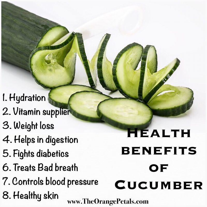 Health benefits of Cumcumber