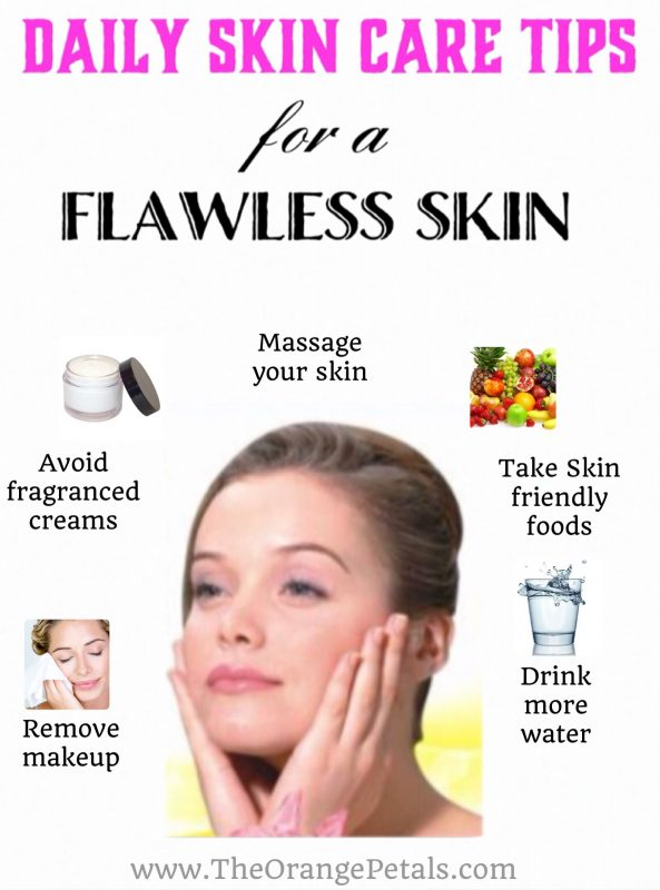 10 Daily skin care tips for a flawless skin and face ...